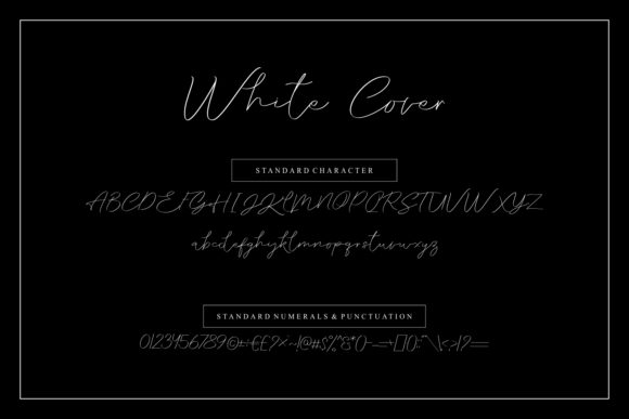 White cover Font