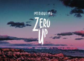 Zero up Font