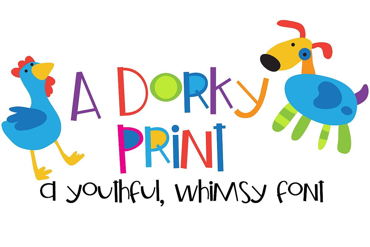 ZP A Dorky Print Regular Font