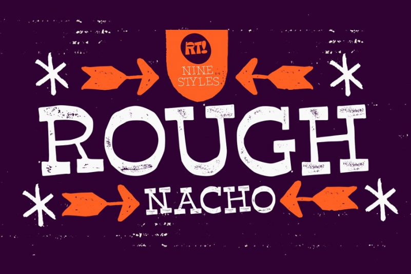 Nacho Rough Font