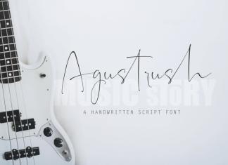 Agustrush Font