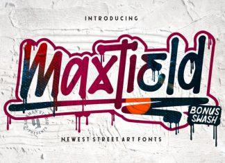 Maxtield [+Bonus Splatter Font