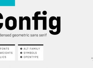 Config Condensed Font Family