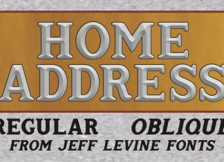 Home Address JNL Font
