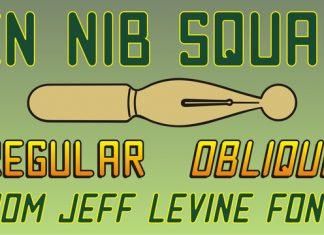 Pen Nib Square JNL Font