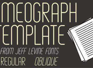 Mimeograph Template JNL Font