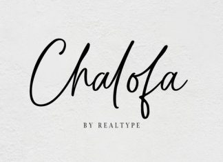 Chalofa Font