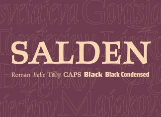 Salden Font Family