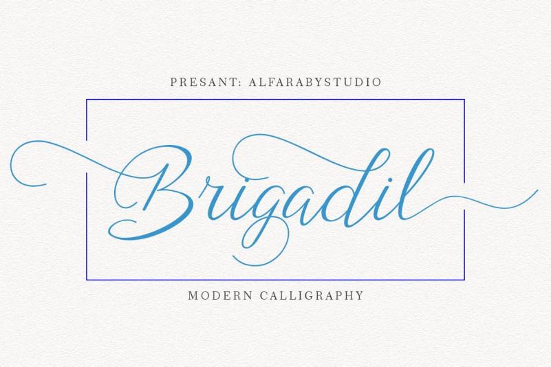 Brigadil Script Font