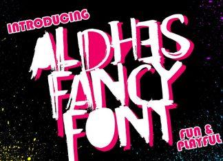 Aldhes Fancy Font Regular