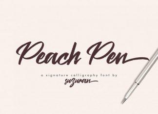 Peach Pen Script Font