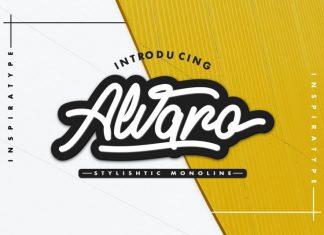 Alvaro - Stylistic Monoline Script Font