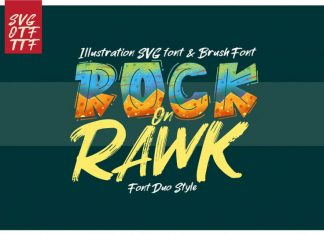 ROCK on RAWK | SVG Font