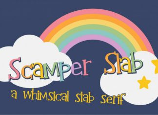 Scamper Slab Regular Font