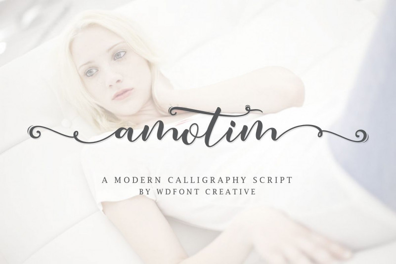 Amotim   New Calligraphy Script Font