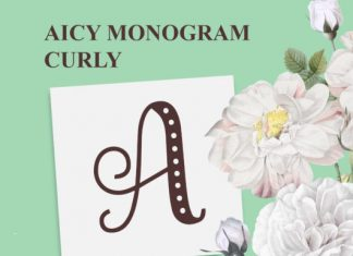 Aicy Monogram Curly Font