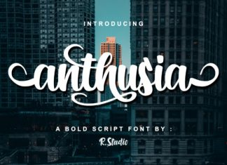 Anthusia font