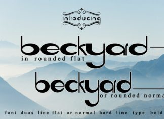 Beckyard Font