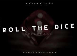 Roll the Dice Font