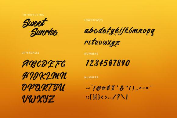 Sweet Sunrise Font