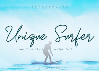 Unique Surfer Font