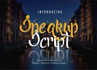 Speakup Script Font