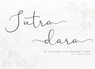 Sutra dara Elegant Calligraphy Font