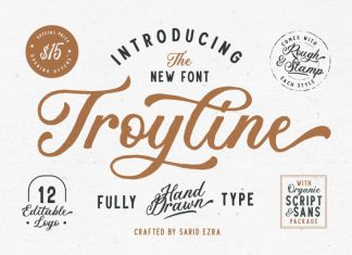 Troyline - Font