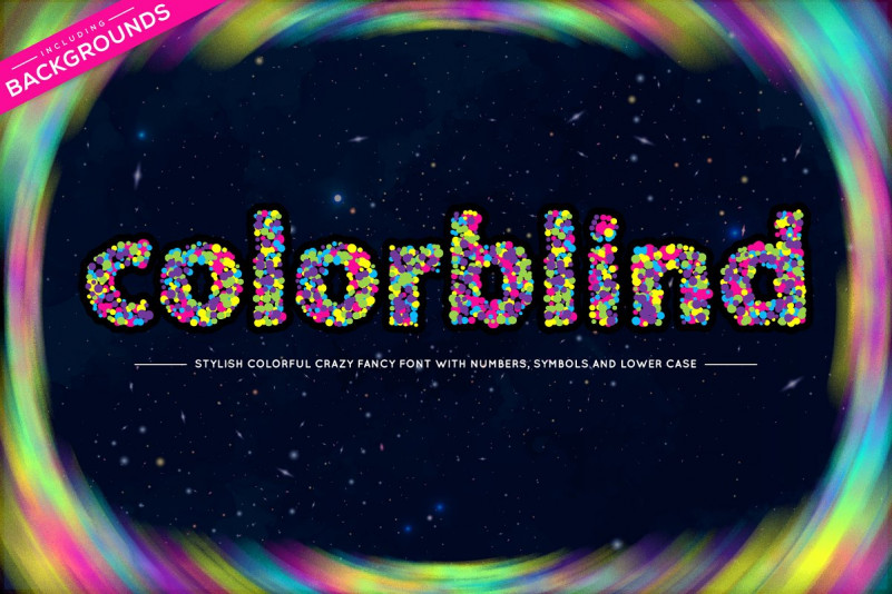 Colorblind OTF Colorful Font