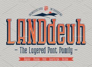 LANDdeuh Font