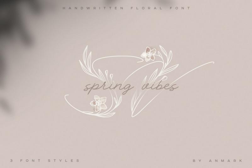 Spring Vibes. Floral FSpring Vibes. Floral Fontont