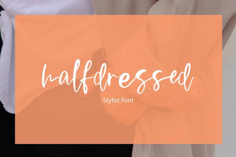 Halfdressed   stylist font