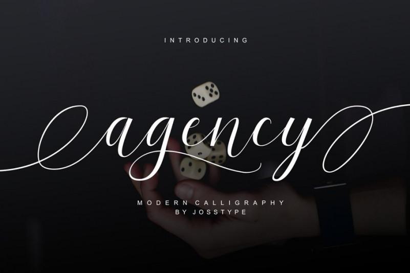Agency Script Font
