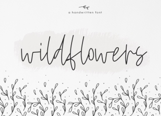 Wildflowers - A Handwritten Font