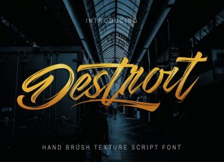 Destroit | Hand Brush Texture Font