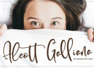 Alcott Ghalliana Font