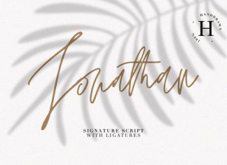 JONATHAN SIGNATURE FONT