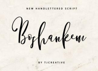 Boshankem - Script font