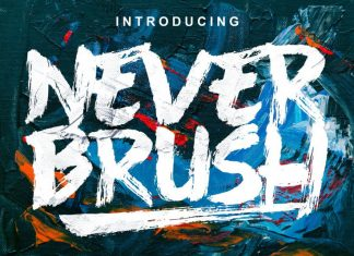 Never Brush Font