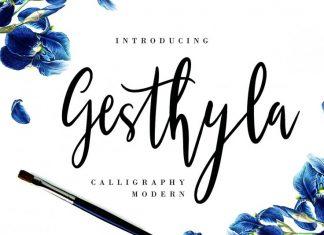 Gesthyla Calligraphy Modern Font