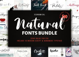 New! Natural Font Bundles.
