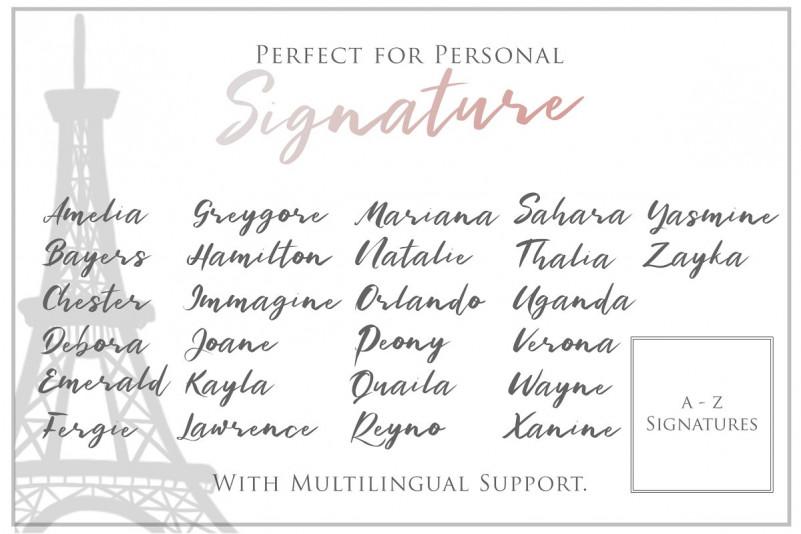 Bonjour - Casual Handwritten Font
