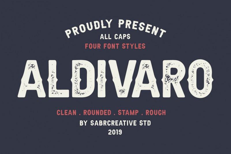 Aldivaro Font Family