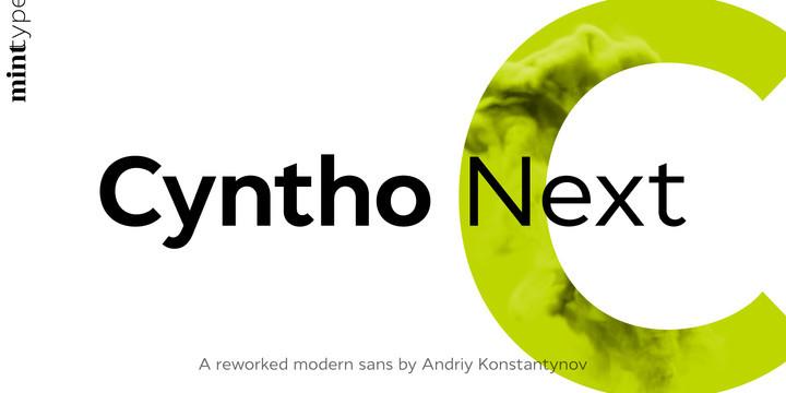 Cyntho Next Font Family