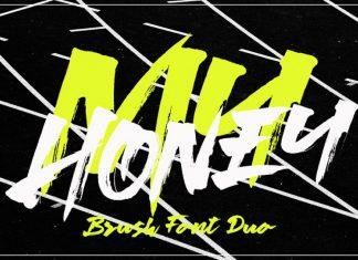 My Honey Brush Font Duo