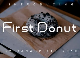 First Donut Font