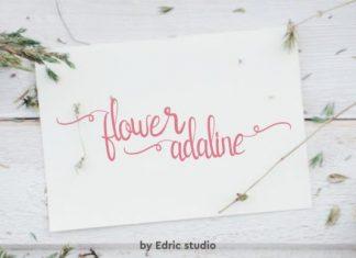 Flower Adaline Font