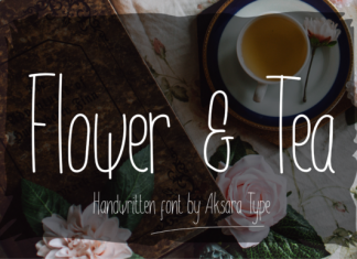 Flower & Tea Font