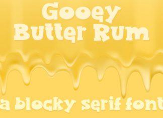 Gooey Butter Rum Font