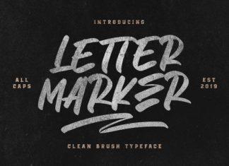 Letter Marker Font